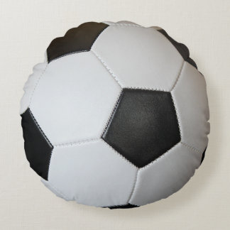Soccer Ball Round Pillow