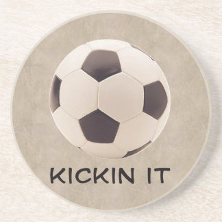 Soccer Ball Sandstone Coaster