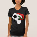 Soccer Ball Santa Cap T-shirts