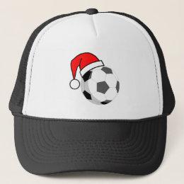 Soccer Ball (Santa Hat) Trucker Hat