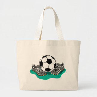 Soccer Ball Shoes Tote Bag