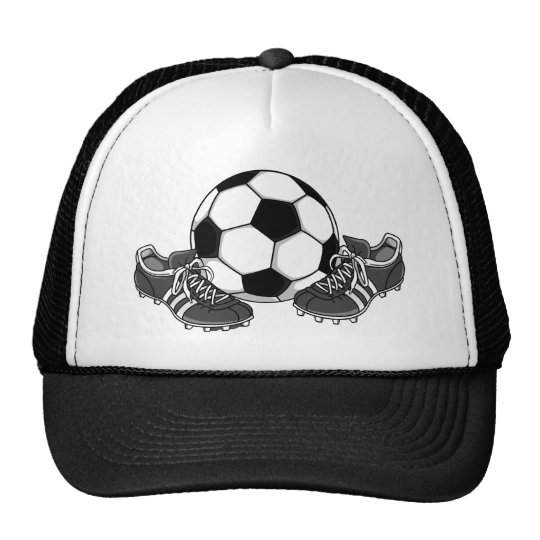 Soccer Ball Shoes Trucker Hat