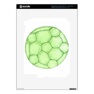 Soccer Ball Sketch 2 Decals For iPad 3