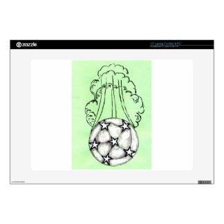 "Soccer Ball Sketch 3 15"" Laptop Decals"