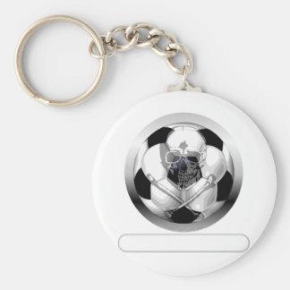 Soccer Ball Skull and Crossbones Keychains
