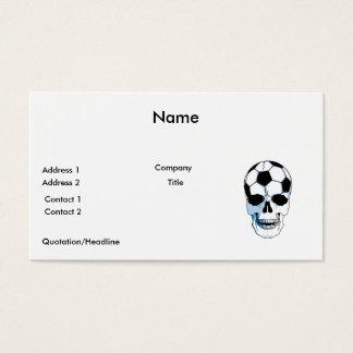 soccer ball skull head business card