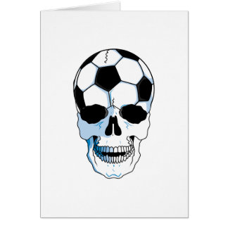 soccer ball skull head card