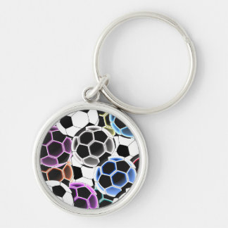 Soccer Ball Small Round Keychain