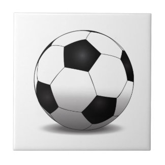 Soccer ball small square tile