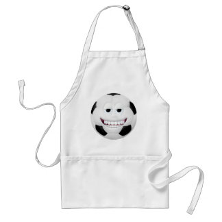 Soccer Ball Smiley Face 2 Adult Apron