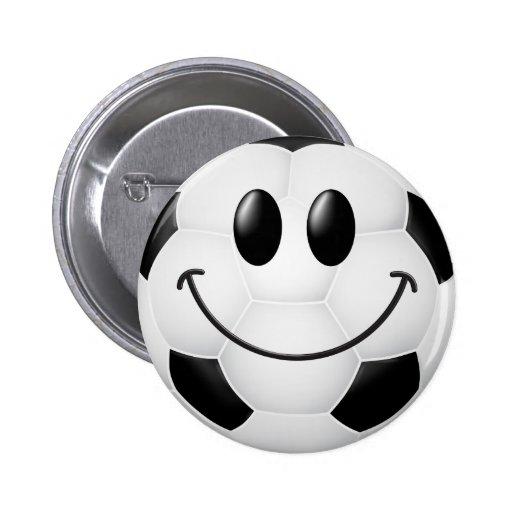 Soccer Ball Smiley Face Pin