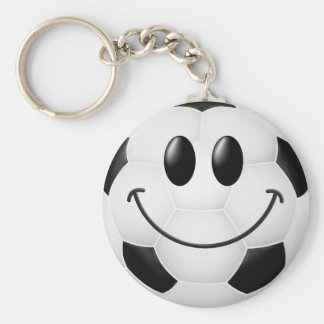 Soccer Ball Smiley Face Keychain