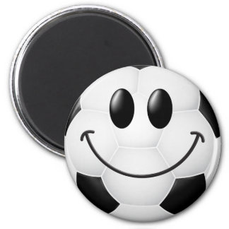 Soccer Ball Smiley Face Magnet