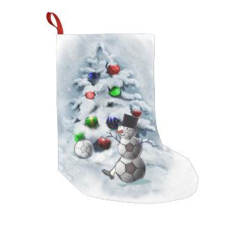 Soccer Ball Snowman Christmas Small Christmas Stocking