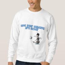 Soccer Ball Snowman Christmas Sweatshirt