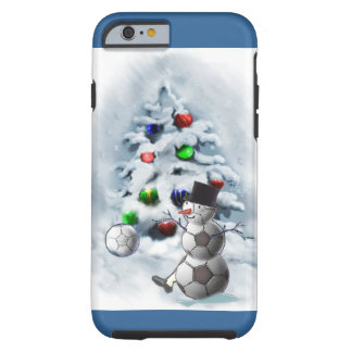 Soccer Ball Snowman Christmas Tough iPhone 6 Case