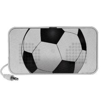 Soccer ball notebook speaker