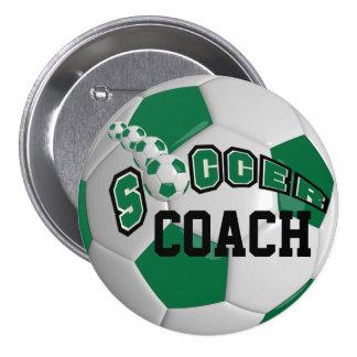 Soccer Ball Sports    Dark Green Button