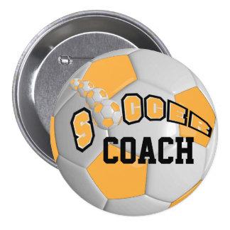 Soccer Ball Sports   Gold Button