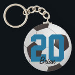 """Soccer Ball Sports Keychain<br><div class=""""desc"""">Soccer ball keychain with custom name by WRKDesigns.</div>"""