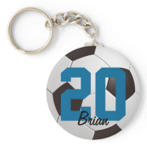 Soccer Ball Sports Keychain