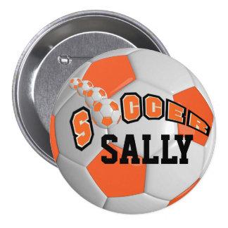 Soccer Ball Sports   Orange Button
