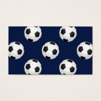 Soccer Ball Sports Pattern Business Card