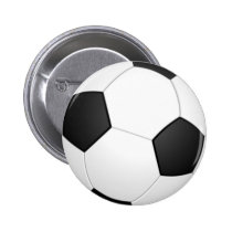 Soccer Ball Sports Pattern Button
