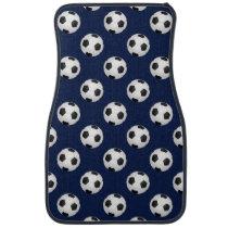 Soccer Ball Sports Pattern Car Floor Mat