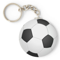 Soccer Ball Sports Pattern Keychain