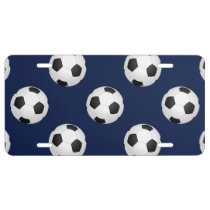 Soccer Ball Sports Pattern License Plate