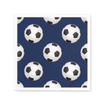 Soccer Ball Sports Pattern Paper Napkin