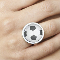 Soccer Ball Sports Pattern Rings