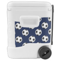 Soccer Ball Sports Pattern Rolling Cooler