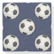 Soccer Ball Sports Pattern Stone Coaster