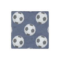 Soccer Ball Sports Pattern Stone Magnet