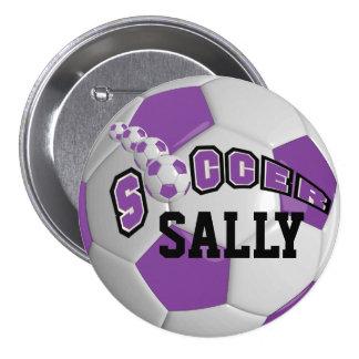 Soccer Ball Sports    Purple Button
