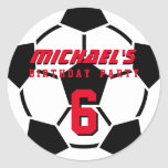 Soccer Ball Sports Team Birthday Party Stickers