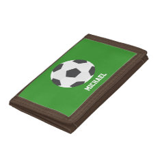 Soccer Ball Sports-themed Kids Tri-fold Wallets at Zazzle