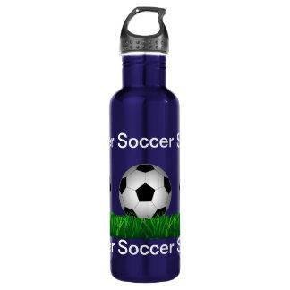 Soccer ball stainless steel water bottle