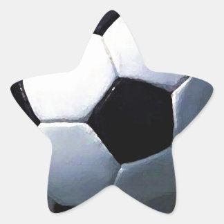Soccer Ball Star Sticker