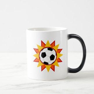 Soccer Ball Sunburst Magic Mug