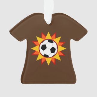 Soccer Ball Sunburst Ornament