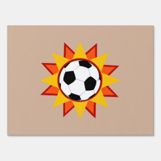 Soccer Ball Sunburst Sign
