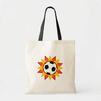 Soccer Ball Sunburst Tote Bag