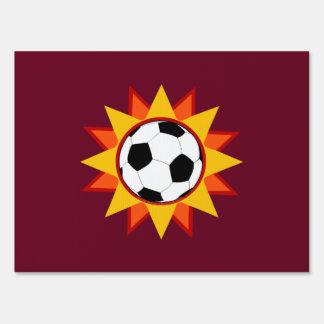 Soccer Ball Sunburst Yard Sign