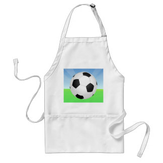 Soccer Ball Sunny Day Aprons