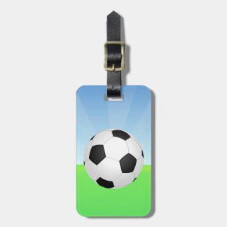 Soccer Ball Sunny Day Bag Tag