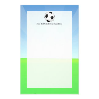 Soccer Ball Sunny Day Stationery