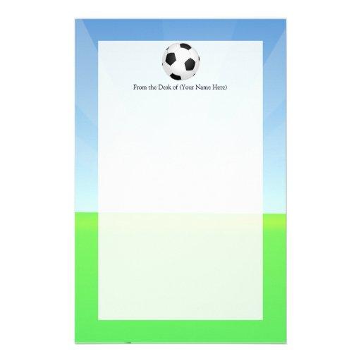 Soccer Ball Sunny Day Stationery